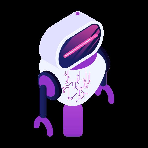 Robôzinho representando inteligência artificial